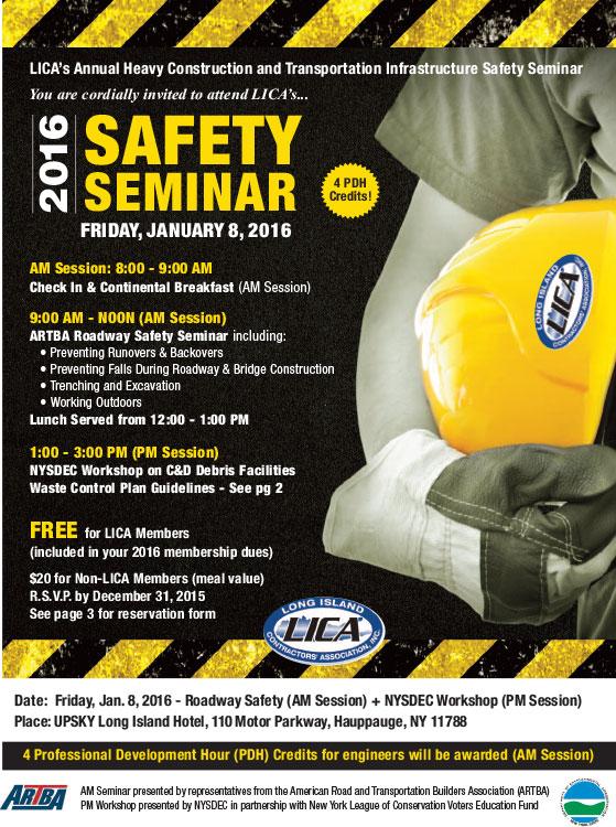 Lica lica safety seminar nysdec workshop for 150 motor parkway hauppauge
